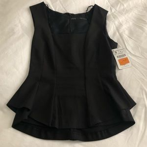 Zara Basic Black Top with Tags Small